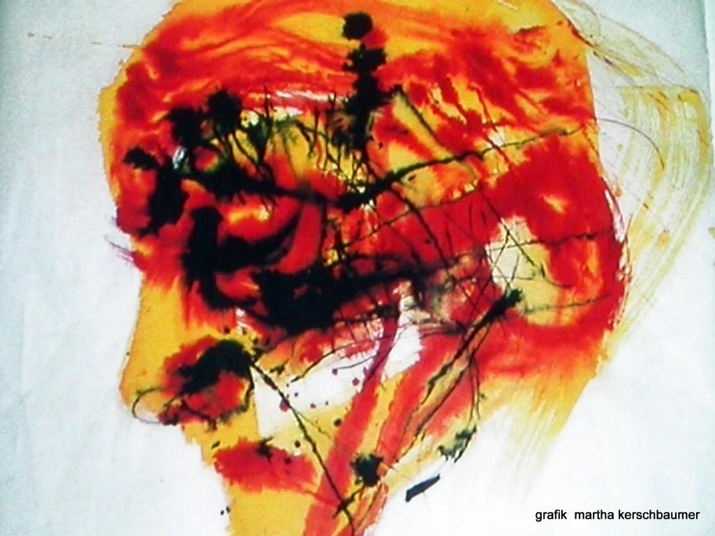 Dichter: Robert Musil Tusche auf Japanpapier 110.110